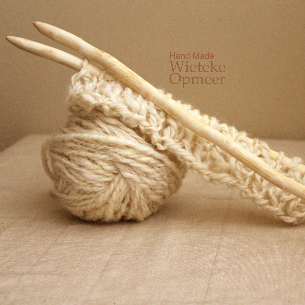 organically shaped wooden knitting needles hand carved from pruning wood.